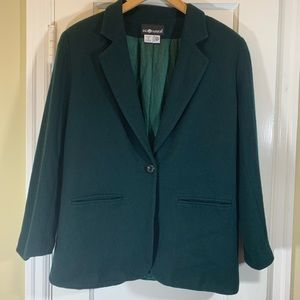 Sag Harbor green wool blazer size 12